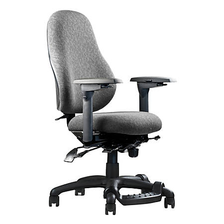 "Neutral Posture® XSM™ Series High-Back Task Chair, 38""H x 26""W x 26""D, Gray"