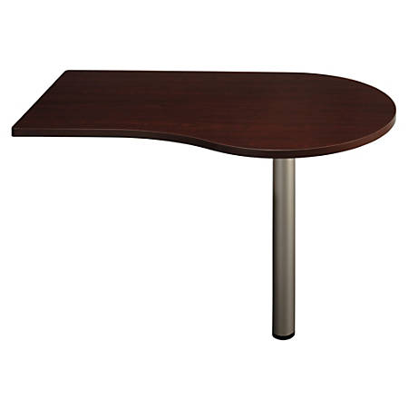 "Bush Business Furniture Quantum Peninsula, 48""W, Harvest Cherry, Premium Installation"