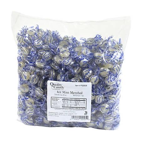 Quality Candy Ice Mint Menthol Disks, 5-Lb Bag