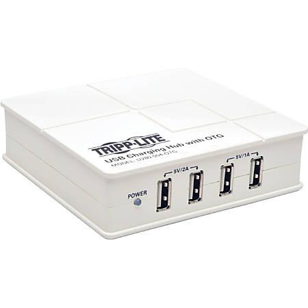 Tripp Lite 4-Port USB Charging Station w/ OTG Hub Tablet Smartphone Ipad - USB - External - 4 USB Port(s)