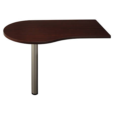 """Bush Business Furniture Quantum Peninsula, 48""""W, Harvest Cherry, Premium Installation"""