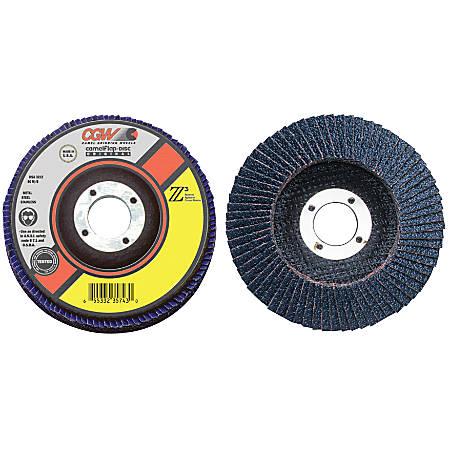 "Flap Discs, Z3 -100% Zirconia, XL, 4 1/2"", 60 Grit, 5/8 Arbor, 13,300 rpm, T27"