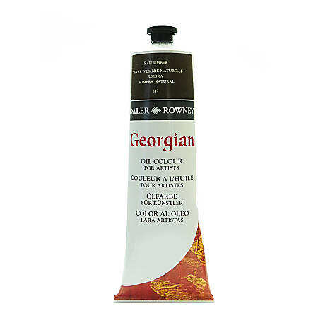 Daler-Rowney Georgian Oil Colors, 7.5 Oz, Raw Umber