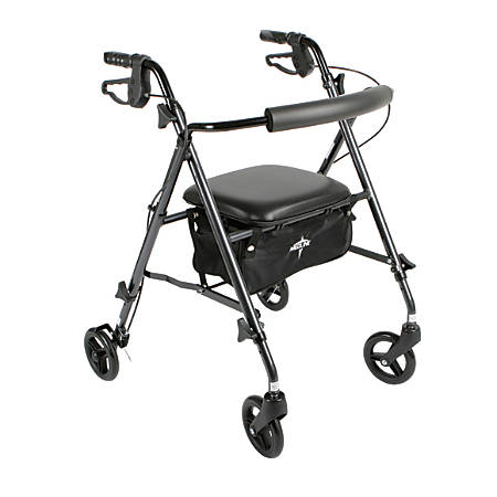 "Guardian Ultralight Rollator, 6"" Wheels, Titanium"