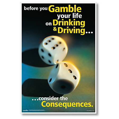 """ComplyRight Substance Abuse Poster, Drinking & Driving, English, 15"""" x 22"""""""