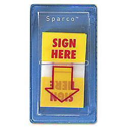 Sparco Sign Here Preprinted Self Stick