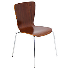 Lumisource Bentwood Stackable Dining Chair WalnutChrome
