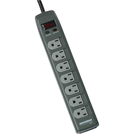 Minuteman MMS Series 7 Outlet Surge Suppressor - Receptacles: 7 - 1080J - Receptacles: 7 - 1080J