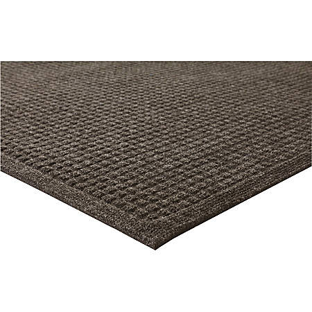 "Genuine Joe Ecoguard Floor Mat - Building - 60"" Length x 36"" Width - Rectangle - Fiber - Brown"