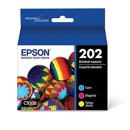 Epson® T202520-S Combo Ink Cartridges, Pack Of 3 Cartridges