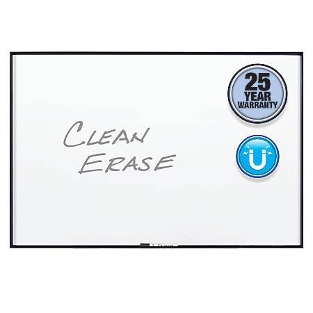 Quartet® Nano Magnetic Dry-Erase Whiteboard, 3' x 2', Black, Aluminum Frame