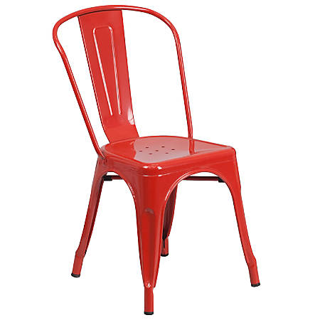 Flash Furniture Commercial Stackable Chair, Red
