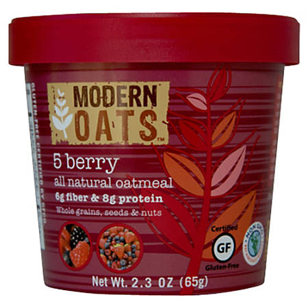 Modern Oats™ Oatmeal Cups, 5-Berry, 2.6 Oz, Pack Of 12
