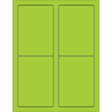 Office Depot Brand Labels LL176GN Rectangle