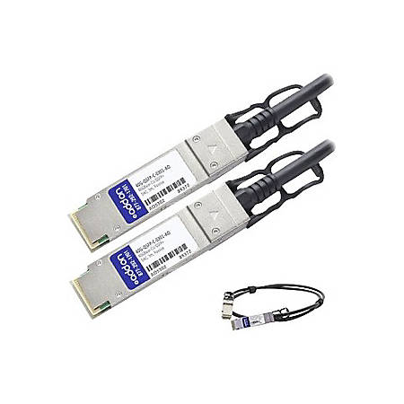 AddOn Brocade 40G-QSFP-C-0301 Compatible TAA Compliant 40GBase-CU QSFP+ to QSFP+ Direct Attach Cable (Passive Twinax, 3m)