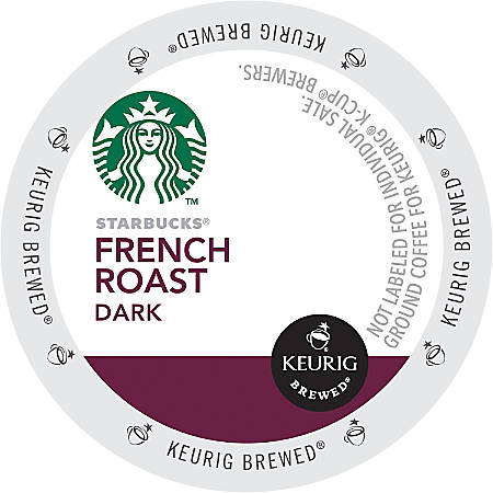 Starbucks® French Roast Coffee Single-Serve K-Cup®, 2.8 Oz, Carton Of 24