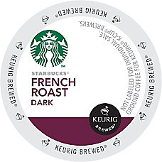 Starbucks French Roast Coffee Single Serve
