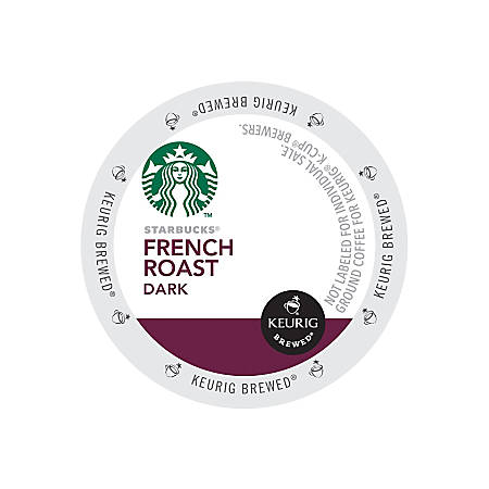 Starbucks® French Roast Coffee K-Cups®, 2.8 Oz, Box Of 24