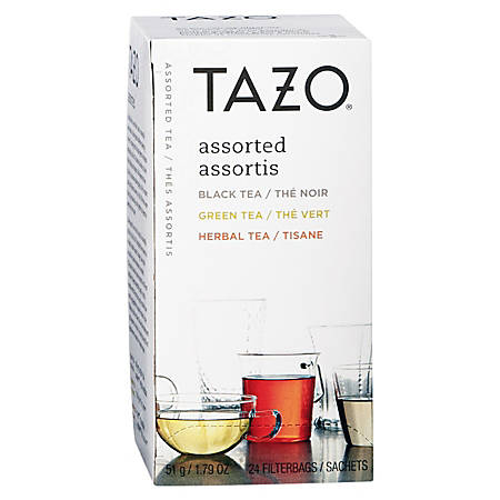 Tazo® Assorted Flavored Teas, Pack Of 24