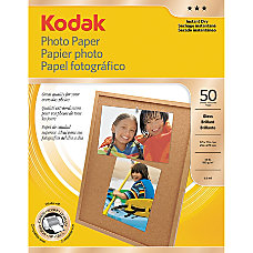 Kodak Photo Paper Glossy 8 12