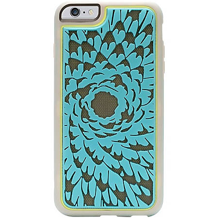 """Griffin Identity Performance for iPhone 6 Plus, Flower - For iPhone - Textured Flower - Navy - Shock Absorbing, Impact Resistant, Chip Resistant, Scratch Resistant, Skid Resistant, Drop Resistant - Rubber, Polycarbonate Plastic, Fabric - 48"""" Drop Height"""