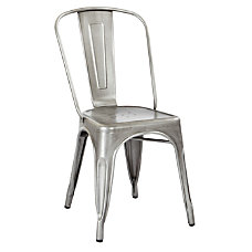 Office Star Bristow Armless Chair Brushed