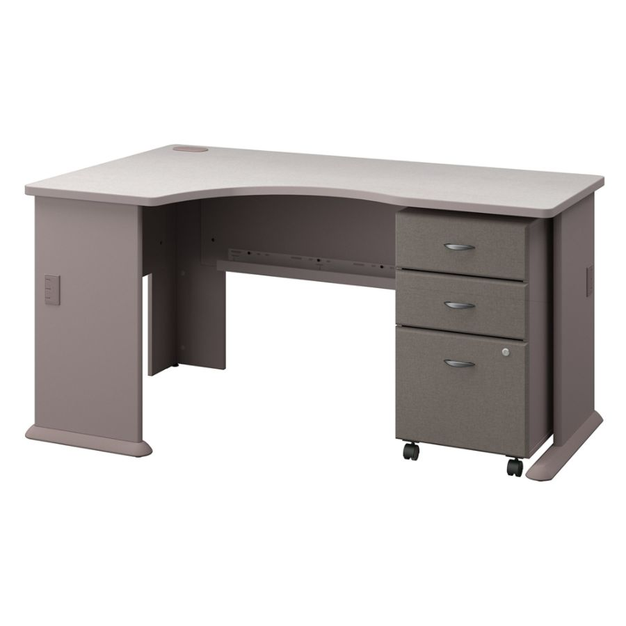 Corner desk office depot Office Furniture Bush Business Furniture Office Advantage Left Corner Desk With Mobile File Cabinet Pewterwhite Spectrum Standard Delivery Office Depot Office Depot Bush Business Furniture Office Advantage Left Corner Desk With