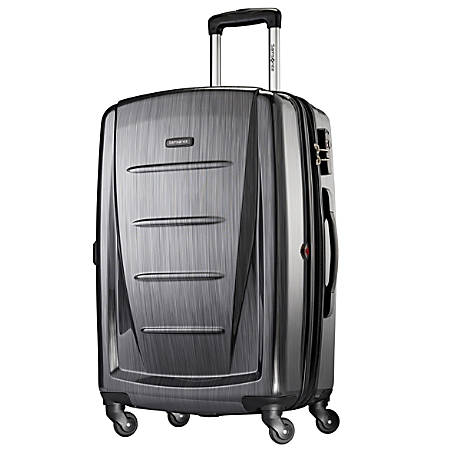 """Samsonite® Winfield 2 Polycarbonate Rolling Spinner, 28""""H x 19""""W x 12""""D, Charcoal"""