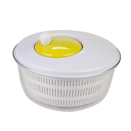 Honey-Can-Do Salad Spinner, White/Green
