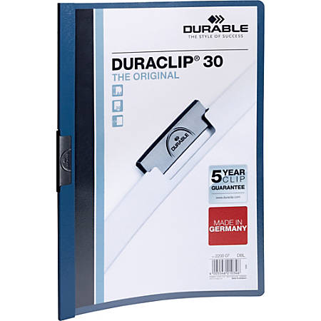 "Durable Duraclip® 30 Report Covers, 8 1/2"" x 11"", Dark Blue"