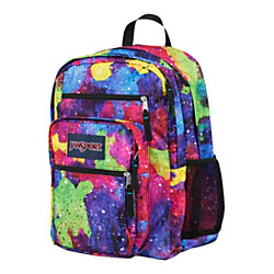 JanSport Big Student Polyester Backpack Multi Neon Galaxy by ...