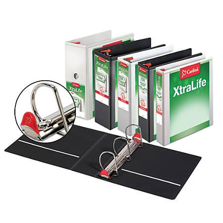"""Cardinal® XtraLife® Locking Slant-D® Ring Binder, 1"""" Rings, 52% Recycled, White"""