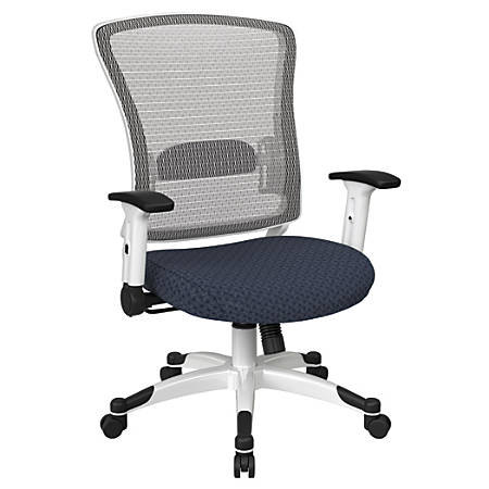 Office Star™ Space Seating Mesh Mid-Back Chair, Cadet/White