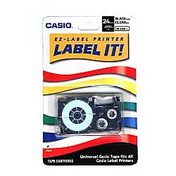 Casio XR24WE Black On White Tape