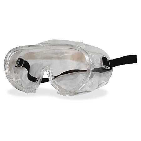 ProGuard 808 Classic Series Safety Goggles - High Visibility, Anti-fog, Lightweight, Comfortable, Elastic Headband, Adjustable - Ultraviolet Protection - Polyvinyl Chloride (PVC) - Clear - 12 / Box