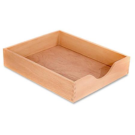 Carver Wood Oak Finish Desk Trays - Desktop - Oak - Oak - 1Each