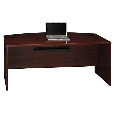 "Bush Business Furniture Quantum Bow Front Desk, 72""W, Harvest Cherry, Standard Delivery"