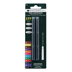 Monteverde Standard Size Fountain Pen Ink Cartridge Refills Black Pack Of 6