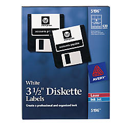 Avery Permanent InkjetLaser Diskette Labels 5196