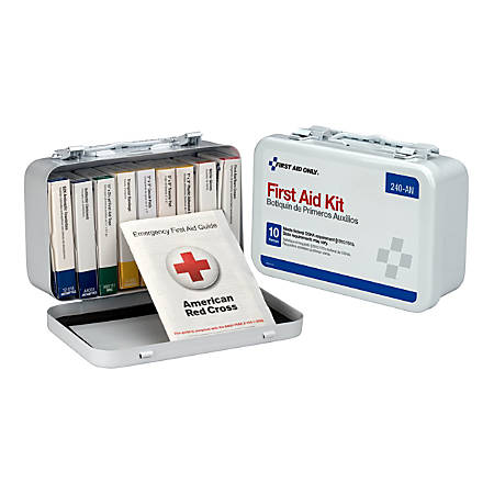 Unitized First Aid Kit, White, 65 Pieces
