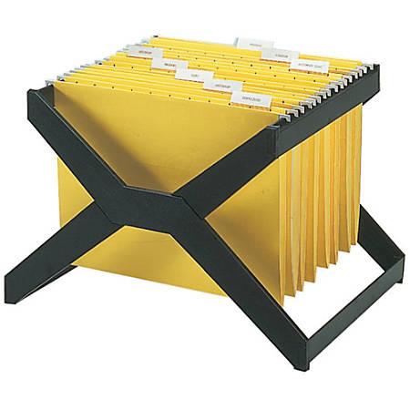 Deflect-O Desktop Hanging File X-Rack, Legal Size, Black