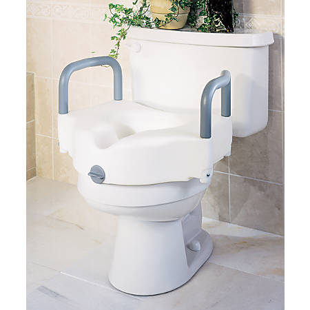 Guardian Signature Locking Raised Toilet Seat, White