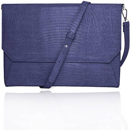 """Francine Collection Lenox Carrying Case (Sleeve) for 13"""" Tablet - eReader, Notebook - Blue - Faux Leather"""