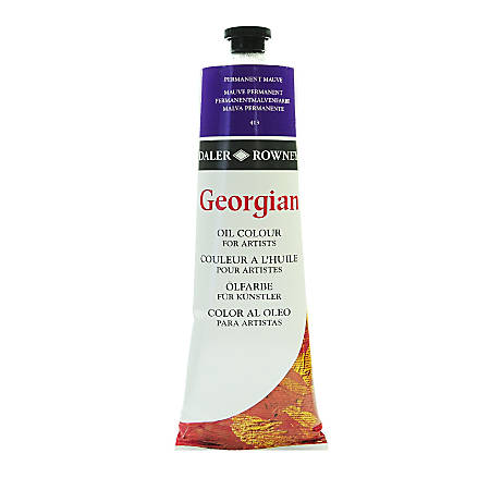 Daler-Rowney Georgian Oil Colors, 7.5 Oz, Permanent Mauve