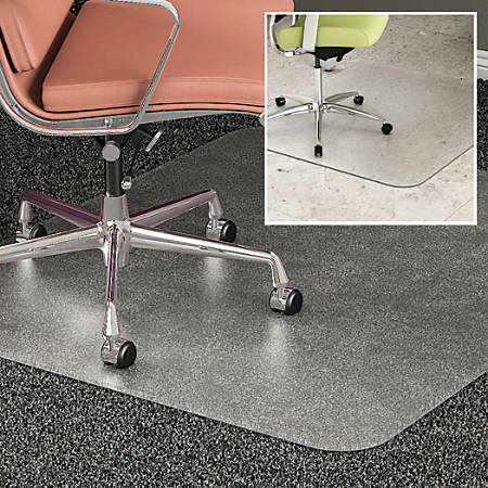 "Deflect-O® DuoMat Chair Mat, 36""W x 48L"", Clear"