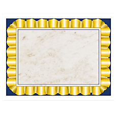 Hayes Certificate Paper With Gold Ribbon