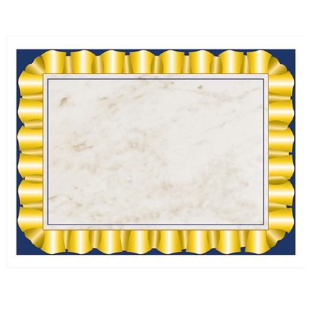 hayes certificate paper with gold ribbon border 8 12 x 11 20 lb