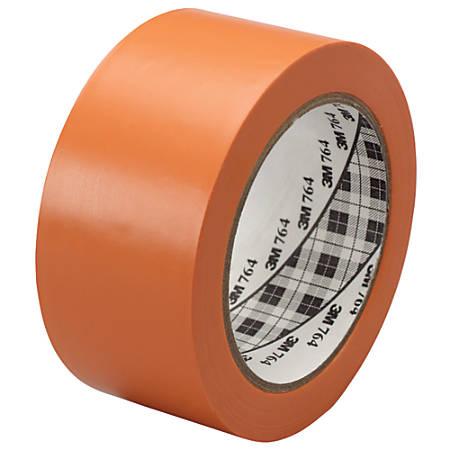 "3M™ 764 Vinyl Tape, 3"" Core, 2"" x 36 Yd., Orange, Case Of 6"