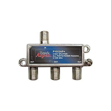 Eagle Aspen P1003AP+ Satellite Splitter - 3-way - 1 GHz - 5 MHz to 1 GHz