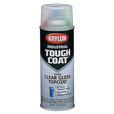 Krylon® Tough Coat® Acrylic Alkyd Enamel, 12 Oz Aerosol Can, OSHA White